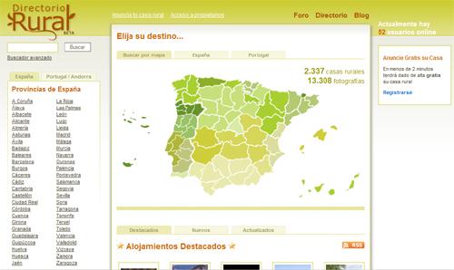 Casas rurales en España, Andorra y Portugal