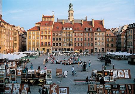 Plaza del Mercado de Varsovia, recorriendo la historia polaca. 1