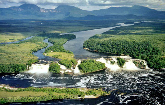 El Parque Nacional de Canaima en Venezuela