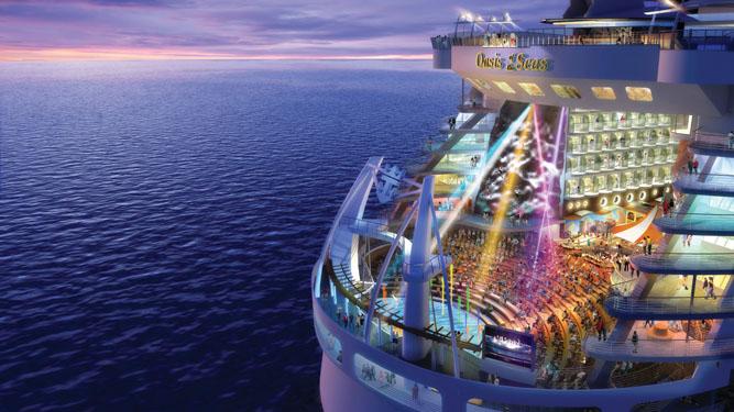 Oasis of the Seas, el crucero más grande del mundo.