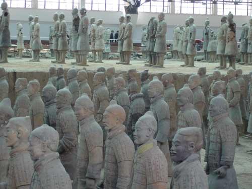 Una pequeña visita a los guerreros de terracota de Xi'an en China 4