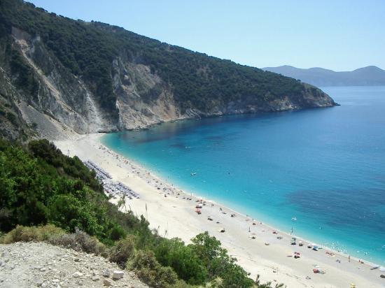 Playa de Myrtos en Grecia