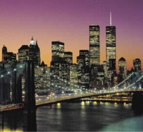 Paseando por el Puente de Brooklyn en Nueva York 2