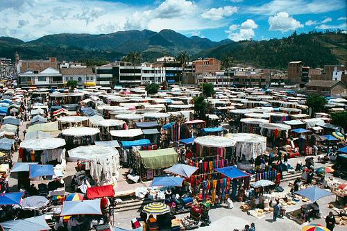 Vista del Mercado de Otavalo