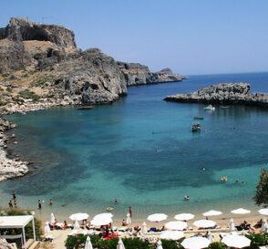 Playas en la isla de Rodas, Grecia 1
