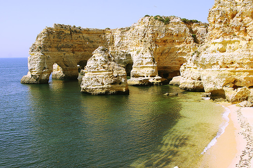Playas en el Algarve de Portugal