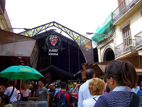 El Mercado de la Boquería en Barcelona