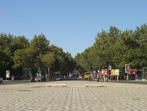 La Avenida da Liberdade en Lisboa