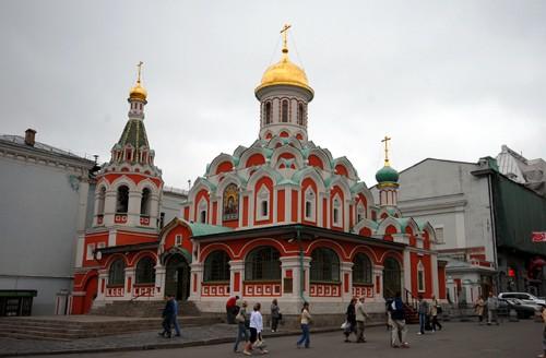 La Catedral de Nuestra Señora de Kazán en Moscú