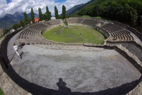 Martigny, ruinas romanas en Suiza
