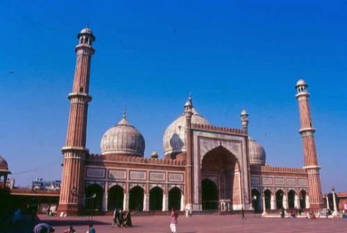 La Mezquita Jama Masjid en Delhi