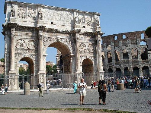 El Arco de Constantino en Roma 1