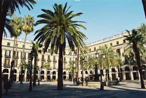 La Plaza Real en Barcelona
