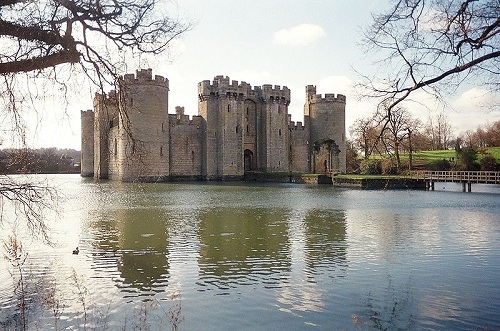 Castillo de Bodiam en East Sussex, Inglaterra