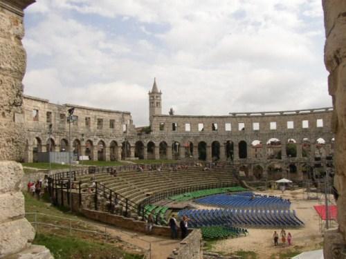Pula, ciudad romana en Croacia