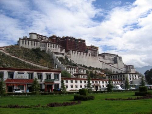 El Palacio de Potala en Lhasa, el Tibet chino