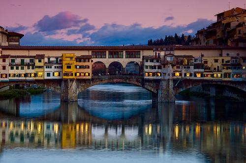 El Ponte Vecchio, el famoso Puente Viejo de Florencia
