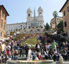 La Piazza di Spagna en Roma 1