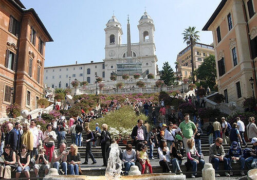 La Piazza di Spagna en Roma 12
