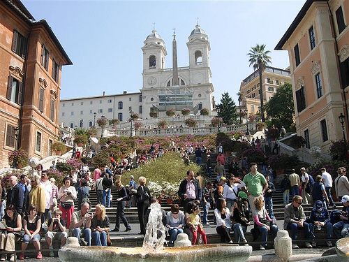 La Piazza di Spagna en Roma