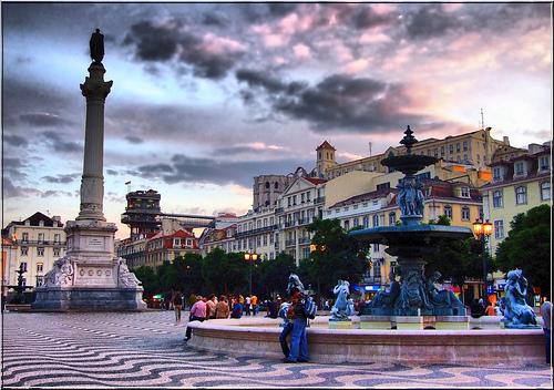 Plaza Rossio en Lisboa 1