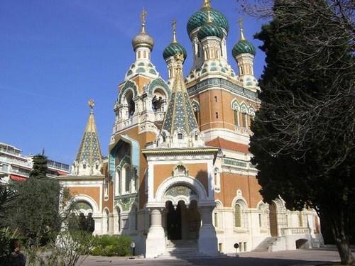La Catedral Ortodoxa de San Nicolás en Niza
