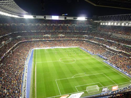 El Santiago Bernabéu en Madrid