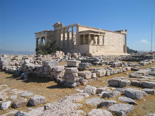 El Erecteion en Atenas