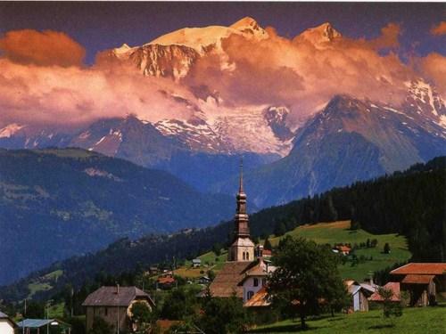 Combloux, a los pies del Mont Blanc en Francia