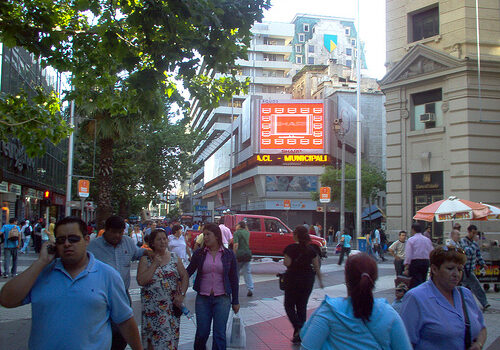 Paseo Ahumada en Santiago de Chile 1