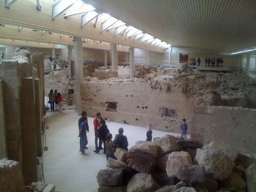 Akrotiri, ruinas arqueológicas en Santorini