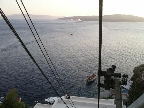 El Teleférico de Fira en Santorini