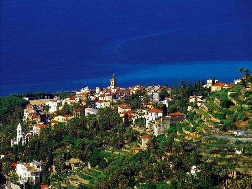Bordighera, en la costa de la Liguria italiana