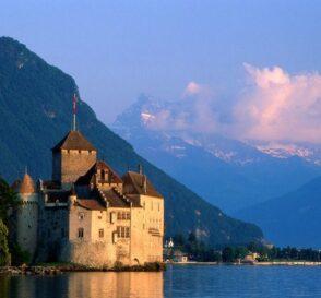 El Castillo de Chillon en Montreaux, Suiza 1