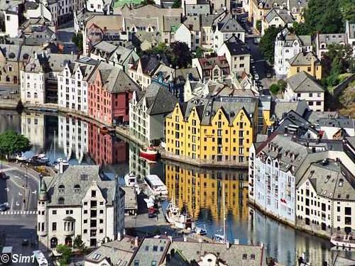 Alesund, la ciudad del Art Nouveau en Noruega