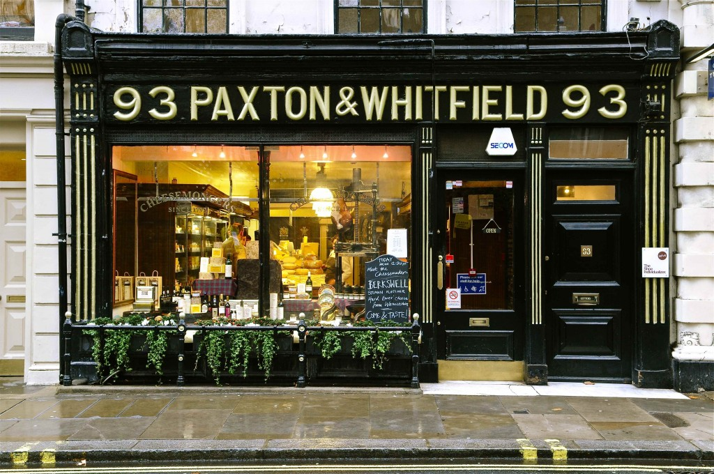 Paxton and Whitfield shopfront