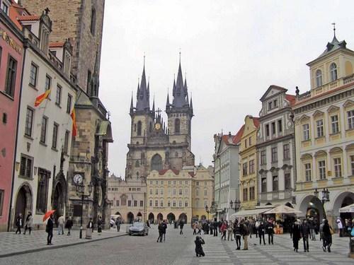 La Plaza de la Ciudad Vieja en Praga