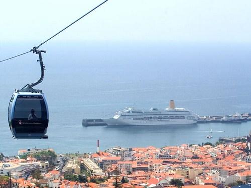 El teleférico de Funchal en Madeira