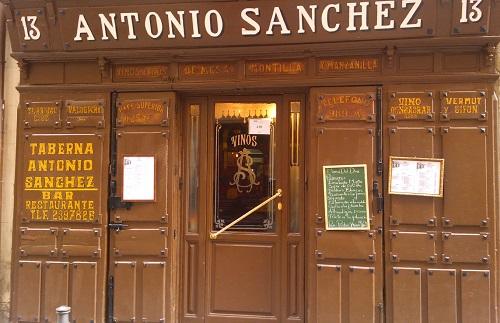 Taberna Antonio Sánchez Madrid