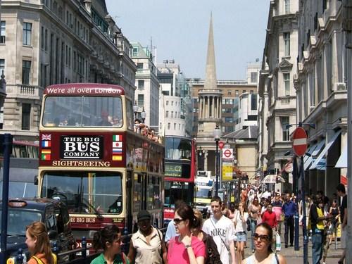 Ambiente de Oxford Street