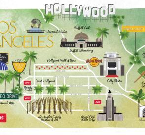 Mapa Ilustrado de Los Angeles