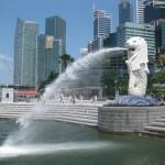 Visita Merlion Park en Singapur