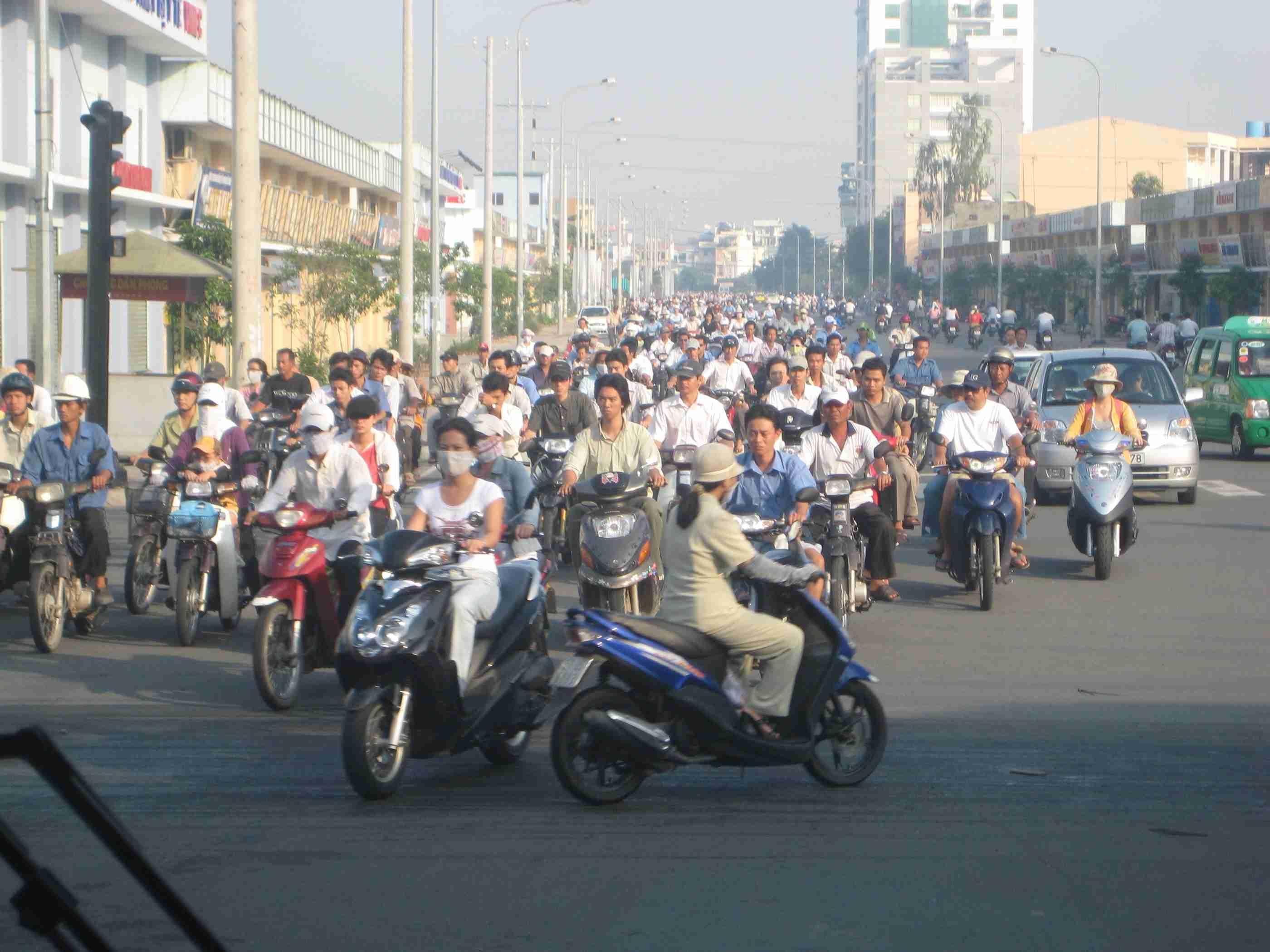 Las motos en Hanoi y Ho Chi Min 2