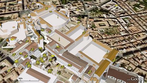 Un viaje por la Roma imperial con Google Earth 1