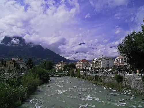 El río Passer por Merano