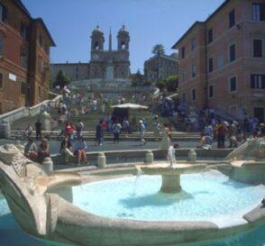 La Plaza de España en Roma 1
