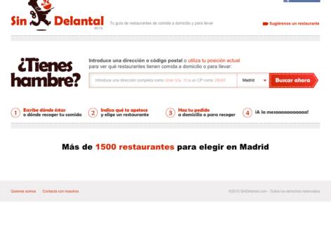 SinDelantal, web de restaurantes de comida a domicilio 14