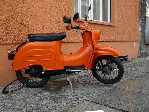 Las motos de la RDA en Berlín 1