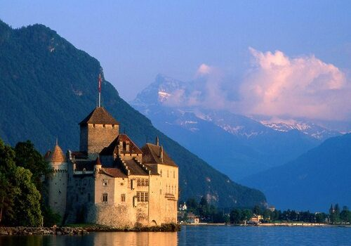 El Castillo de Chillon en Montreaux, Suiza 2