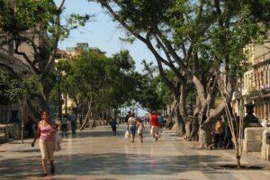 El Paseo del Prado en La Habana 1